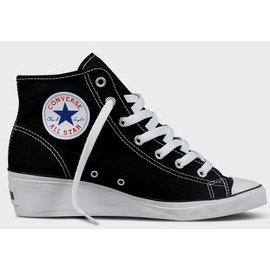 CONVERSE 黑色基本款高筒 ALL STAR 帆布鞋楔型鞋高跟鞋【女】Hush Puppies