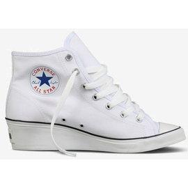 CONVERSE 白色基本款高筒 ALL STAR 帆布鞋楔型鞋高跟鞋【女】Hush Puppie