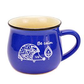 馬克杯 刺蝟 350ML|早餐杯 牛奶杯 咖啡杯 陶瓷杯 水杯 ~mocodo魔法豆~