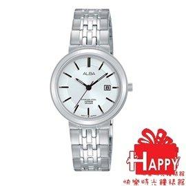 ~時間道~むALBA~錶め簡約藍寶石水晶玻璃腕錶 大  黑面黑鋼 VJ42~X184K A