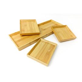 菊川本味 天然竹可疊式竹托盤正方 M30 廚房紙巾 原木架 櫸木 咖啡架 調味罐架 竹器
