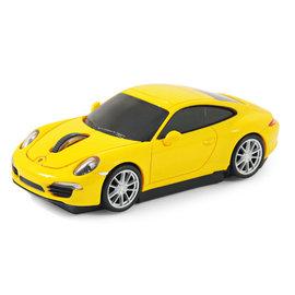 AutoDrive跑車 無線滑鼠~Porsche 911 991 ~黃