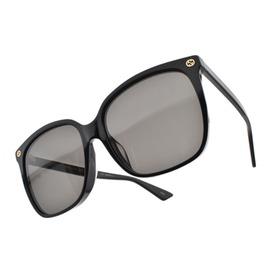 GUCCI 太陽眼鏡 GG0022SA 001 (黑) 奢華金屬LOGO微貓眼款 墨鏡 # 眼鏡品牌