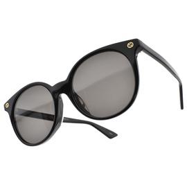 GUCCI 太陽眼鏡 GG0091SA 001 (黑) 歐美潮流貓眼LOGO款 墨鏡 # 眼鏡品牌