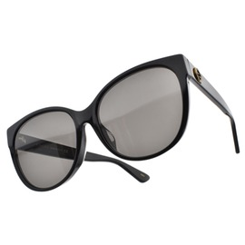 GUCCI 太陽眼鏡 GG0097SA 001 (黑) 歐美百搭微貓眼款 墨鏡 # 眼鏡品牌