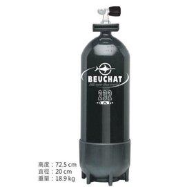 潛水~~~~ BEUCHAT 鋼瓶  15L:120 cuft #160