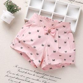 ~╮Ivy寶貝童衣~╮女童蝴蝶款結休閒短褲