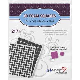 3D 217黑色自黏方形泡棉混合尺吋