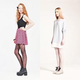 ORENDA 十字紋透膚褲襪(1件入) 黑色/雪白 兩款可選【美麗販售機】