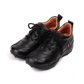 女  ZOBR 牛皮綁帶休閒鞋 黑 女鞋 鞋全家福