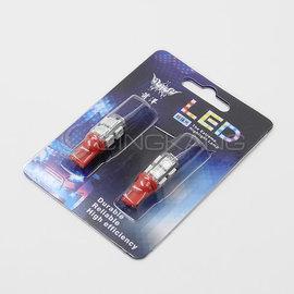 【11200116-4】T10 5050 9燈LED 紅光 DC12V  2PCS 卡