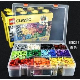 【老頑童玩具屋】LEGO樂高收納盒 零件分類盒 積木收納盒 整理箱 雙層白色59格