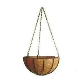 硬质椰纤花盆+圆吊篮花架+吊链(14吋)