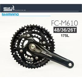 ~飛輪單車~ SHIMANO DEORE FC~M610一體式大盤組 48 36 26T1