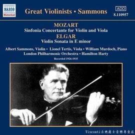 ~NAXOS ~莫札特:交響協奏曲 艾爾加:小提琴協奏曲 Albert Sammons艾伯