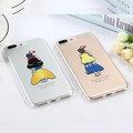 iphone8 白雪公主透明軟殼 灰姑娘 iphone8plus 童話 卡通 手機殼 軟殼 背影 保護殼  全包邊 TPU i8