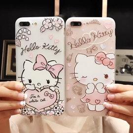 iphone7 KT浮雕全包邊軟殼 iphone7plus 凱蒂貓 Kitty 手機殼 卡