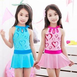 新款兒童泳衣女童韓版連體裙式中大童遊泳衣公主學生韓國女孩泳裝3C生活館