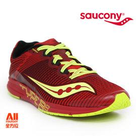 【Saucony】【全方位運動戶外館】男款慢跑鞋 TYPE A8 輕量競速 -艷紅色(290441)