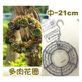 多肉花圈-铁线花环(21cm中)