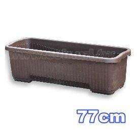 2尺6(77cm)条纹大长花槽(附底网)~忠兴778【黑棕色】