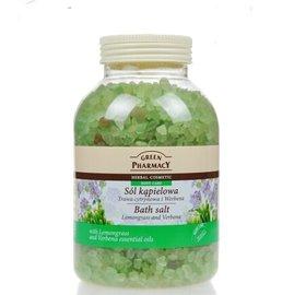 波蘭 Green Pharmacy天然草本礦物質 檸檬草 馬鞭草天然沐浴鹽 水療浴鹽130