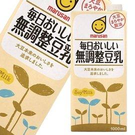 【MARUSAN丸三】 成分无调整豆乳 1L 日本进口饮料