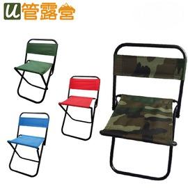 烤肉野餐露營BBQ914 (小號)迷彩靠背折合椅  迷彩  紅色  藍色  綠色