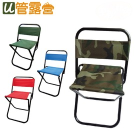 烤肉野餐露營BBQ921 (中號)迷彩靠背折合椅  迷彩  紅色  藍色  綠色