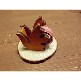 ~微加幸福雜貨小築~ zakka復古風 松鼠 膠帶切割台 木質 木製 木頭 膠台 紙膠帶