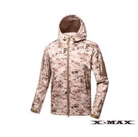 特价990-排汗王~X-MAX~1752全彩男刷毛软壳外套-数码沙漠~防风~防泼水~保暖~登山~钓鱼~生存游戏~迷彩~