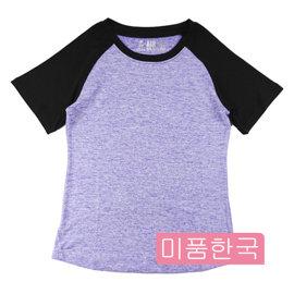 ~韓國 ~ 撞色 圓領短袖T恤 修身上衣 女生衣著 韓系穿搭