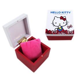【卡漫屋】 Hello Kitty 木製 飾品盒 ㊣版 凱蒂貓 收納盒 置物盒 珠寶盒 迷你 耳環 戒指 項鍊 手鍊