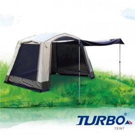 【露營趣】中和安坑 TURBO TT-TL320 Veranda 320 客廳帳 專利快速帳 八人帳 炊事帳 速搭帳篷 鋁柱 露營 野營