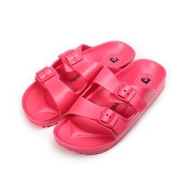女  皮爾卡登 輕量腳床雙帶拖鞋 紅 女鞋 鞋全家福