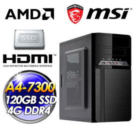 MSI 微星GRENADE平台~真言套索~AMD A4~7300 雙核心 120G SSD