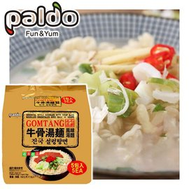 【韓國paldo八道】名家名品 韓國牛骨湯麵 102gx5 5包入 韓國進口 速食湯麵