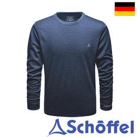 德国【Schoffel】男保暖恒温长袖羊毛圆领衫 / 6SL28-21431