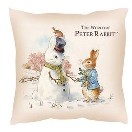 【玫瑰物语】彼得兔圣诞树双面抱枕47x47cm雪人靠枕圣诞老公公儿童圣诞节交换礼物含枕心正版授权台湾制寝饰沙发抱枕