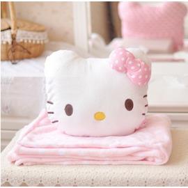 【小星星日韩批发】毛毯 KITTY 二合一 空调毯 抱枕 靠垫 WZ171210【WZ预购】