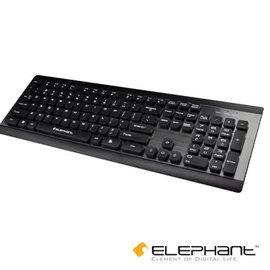 ELEPHANT 金屬典雅工藝 懸浮式巧克力鍵盤 KE~012BK