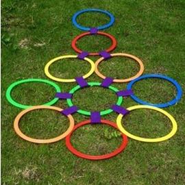 幼儿园教具儿童体能训练器材体育户外亲子玩具跳房子跳圈圈跳格子 twI11