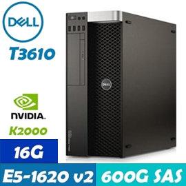 Dell Precision T3610 立式工作站  E5~1620v2 16G 600