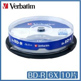 Verbatim BD~R 25GB 6X 10片桶裝 光碟