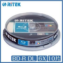 錸德 Ritek BD~R DL 6X 10片桶裝 BD 光碟
