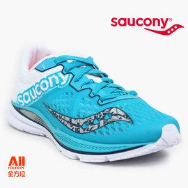 【Saucony】【全方位運動戶外館】女款慢跑鞋 FASTWITCH 輕量競速-藍綠色 (190322)