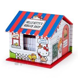 〔小禮堂〕Hello Kitty 便條紙組~房屋.紅白藍.店員.漢堡店~4901610~5