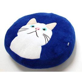 大人气!白猫图案蓬松柔软坐垫!