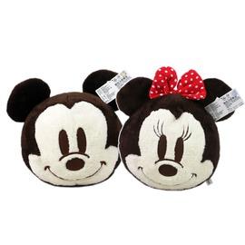 【卡漫屋】 米奇 米妮 暖手枕 小圆 30CM 二入组 ㊣版 Mickey Minnie 米老鼠 绒毛娃娃 抱枕 玩偶