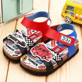 童鞋城堡-Tomica多美小汽车 中小童 软木风格凉鞋TM3623-蓝